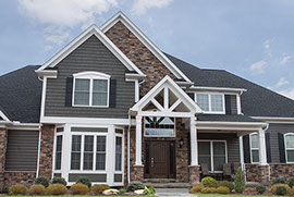 Ohio Home With Exterior Thin Cut Faux Stone Siding