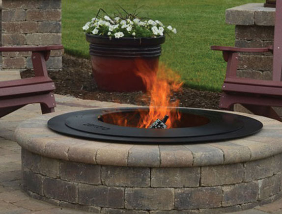 Zentro Breeo Smokeless Fire Insert - Outdoor Round Fire Pit SmokelessValley City Supply