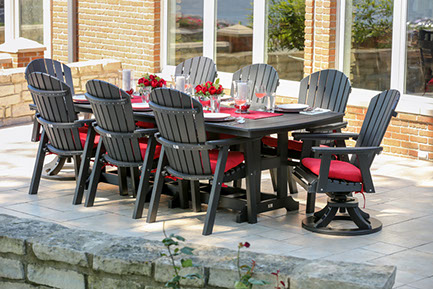 Low Maintenance Poly Furniture Outdoor Dining Set In Ohio Patio