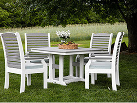 berlin gardens poly furniture. Berlin Gardens. Ohio Backyard With Amish Crafted Poly Recylced Plastic Dining Table And Chairs Gardens Furniture